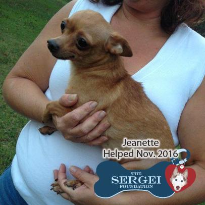 Jeanette – Helped Nov. 2016