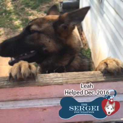 Leah – Helped Dec. 2016